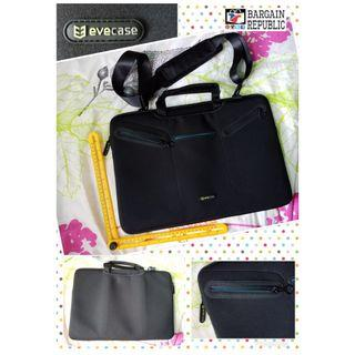 Laptop Messenger Bag, Evecase 17~17.3 inch Notebook Multi-functional Neoprene Messenger Case Tote Bag with Handle and Carrying Strap - Black