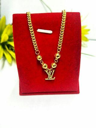 916 LV Gold Necklace