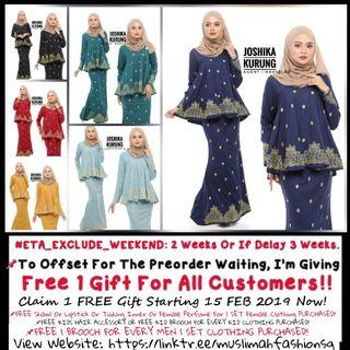 Joshika Babydoll Kurung (Preorder). Price Before Discount $61. Join Telegram To Get Member's Discount