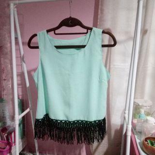 Mint Green Boho top
