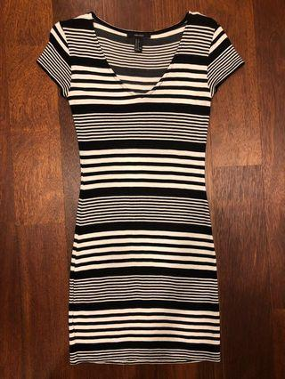 Forever 21 stripe dress #MFEB20