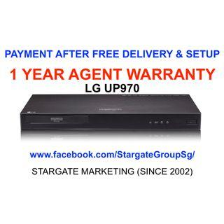 LG UP970 4K ULTRA HD PREMIUM BLU-RAY PLAYER  W/ 1 YEAR AGENT WARRANTY (BRAND NEW SET)  PAYMENT AFTER FREE DELIVERY & SETUP