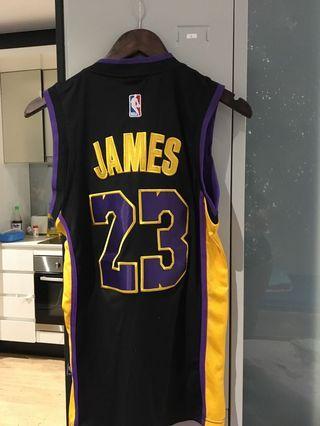 Unisex Lebron James Basketball jersey black XS/S