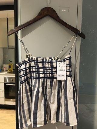 Zara stripe cami vest top S