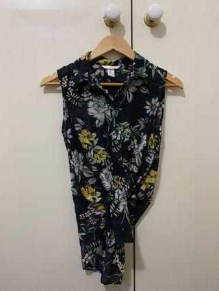 Sleeveless floral shirt