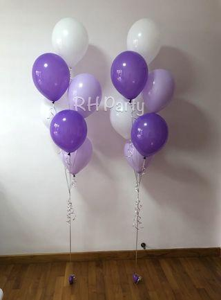(11/4) Helium Latex balloon Bouquet ( purple lavender white pastel latex Theme )
