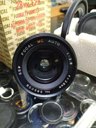 Brand new focal 28mm f2.8 pentax k mount for k1000 me mx ect