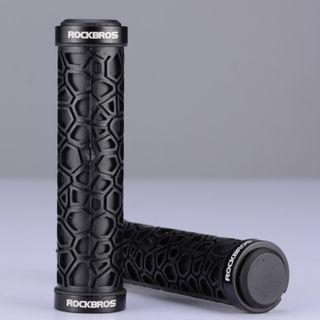 💯🆕RockBros Double Lock-on  Handlebar Grips for bicycle/Scooter