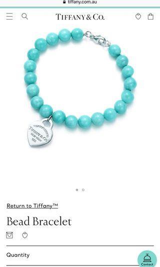 Tiffany Co Return to Tiffany Amazonite Bracelet