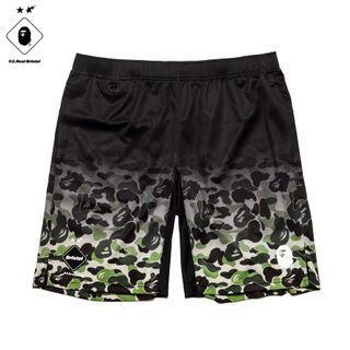 Bape X FCRB game shorts