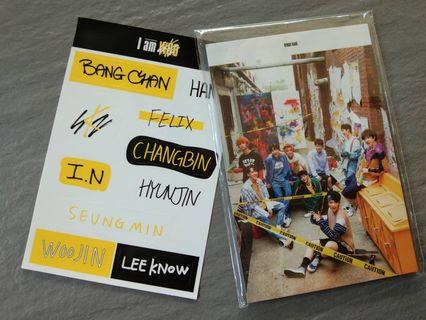 STRAY KIDS I AM WHO POSTCARD AND STICKER