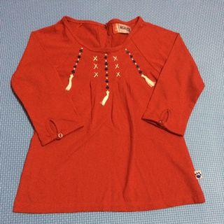 Red longsleeve top