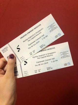 Martha Argerich concert tickets