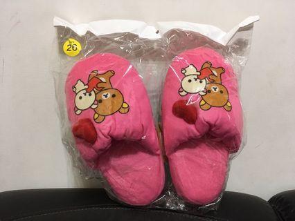 🚚 《全新現貨》拉拉熊室內拖鞋 粉紅溫暖 可愛 少女Rilakkuma厚軟 26cm 雷標
