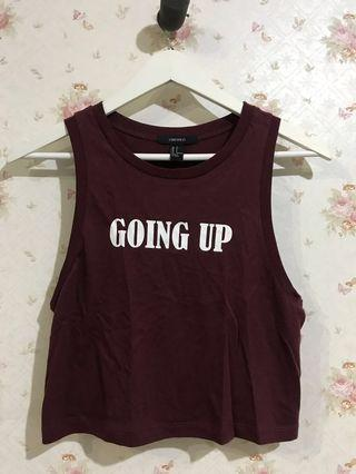 Forever 21 maroon tank top