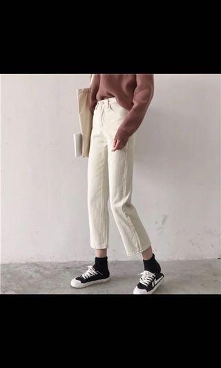 🚚 正韓 奶油白褲