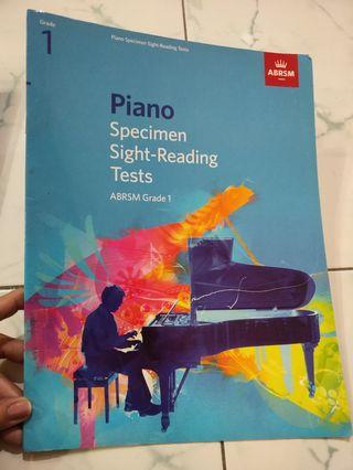 Piano Specimen sight-reading tests ABRSM Grade 1
