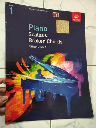 ABRSM Piano Scales and broken cords Grade 1
