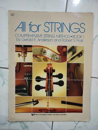 All for strings by Gerald E Anderson and Robert S Frost