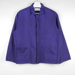 【GGM】Bleu de Travail FRENCH WORKWEAR JACKET水洗藍染紫色做舊人織紋法國工裝外套