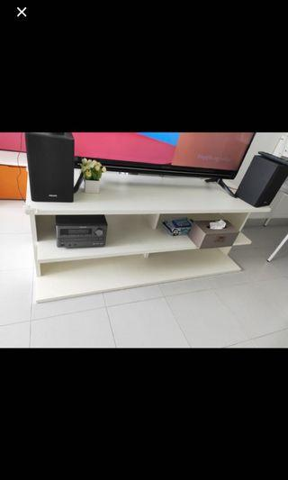 TV console with wheel