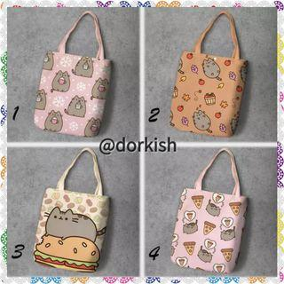 [PO] Pusheen the Cat Kitty Kitten Cute Canvas Tote Bag (1 of 2)