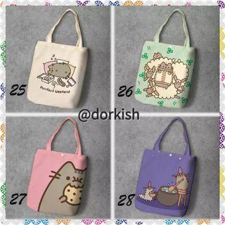 [PO] Pusheen the Cat Kitty Kitten Cute Canvas Tote Bag (2 of 2)
