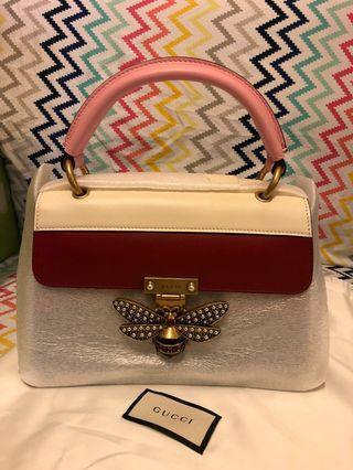 全新Gucci Queen Margaret Handle Bag 三色蜜蜂扣手袋