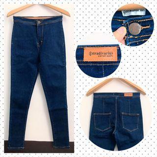 High Waist Denim Jeans Navy Blue