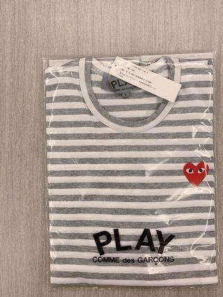 Comme des Garcons CDG Play Logo LS Tee