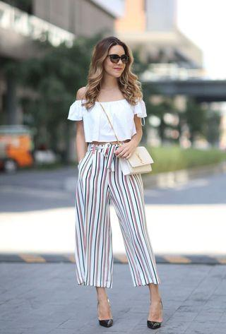 Zara stripped culottes