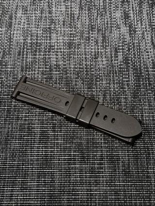 NEW: ORIGINAL Panerai Dark Brown rubber strap