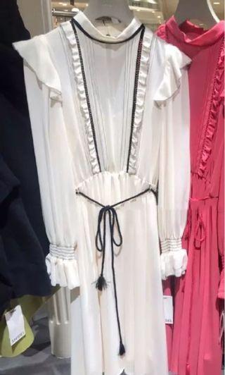 Snidel 剪牌米白色連身裙