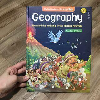 Buku cerita tentang alam GEOGRAPHY, MOUNTAIN & VOLCANO. Buku dalam bahasa Indonesia. Isi 39 halaman