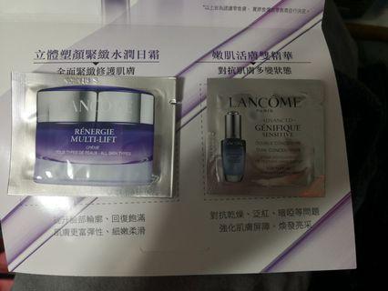 Lancome renergie multi-lift cream 2ml, genifique double concentrate 1ml