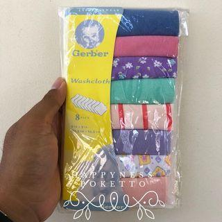 Gerber Washcloth Cotton Knit Terry 8pc in a pack