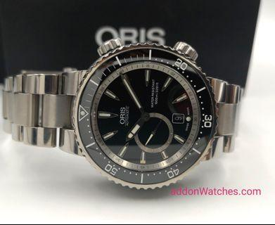 Oris Diver Titanium Small Second Date 1000M Automatic Watch