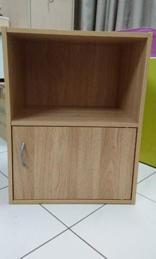 2 tier utility shelf with 1 door/Bookcase/ Rak buku