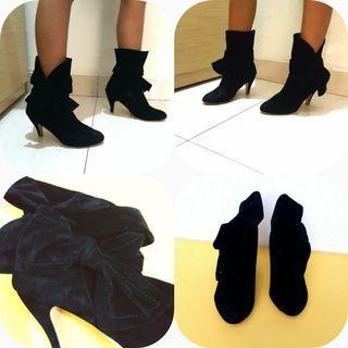 Sepatu Boots Hitam / Sepatu boots hitam wanita / Sepatu Boots size 36 / Sepatu murah / Sepatu pesta