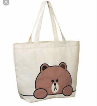 Line Friends Tote Bag 麥當勞世界盃brown bag 全新未開封