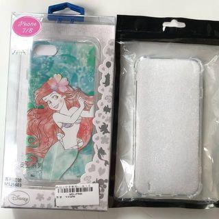 🚚 特價100元包含運費 Iphone7 8 (小美人魚、透明)空壓殼4.7吋手機套 一組2個