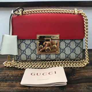 eae8f99ab639 Gucci Padlock Small GG Supreme Chain Shoulder Bag