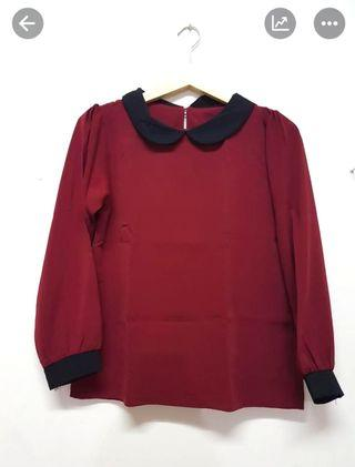 Red Blouse kantor casual daily