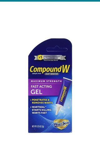 Compound W Salicylic Acid Wart Remover | Maximum Strength Fast Acting Gel | 0.25 oz |