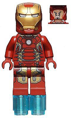 Lego Iron Man Mark 43 Amor in 76031, 76032 and 76038
