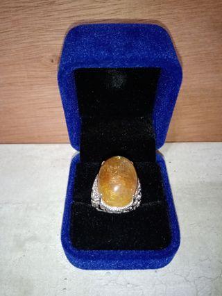 紅銅 鈦晶銀戒(附戒盒)