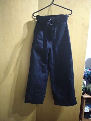 GU Uniqlo Cotton Denim Wide Leg Cullote