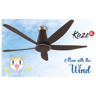 """NEW KDK 5 bladed Ceiling Fan 60"""" short pipe Brown + FREE CNY Gift+ Islandwide Delivery"""