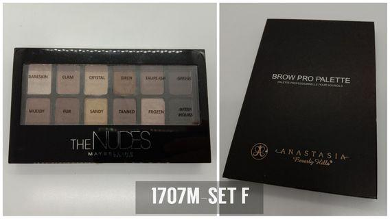 MAYBELLINE  THE NUDES EYESHADOW PALETTE & ANASTASIA BEVERLY HILLS  BROW PRO PALETTE • Read before PM❗