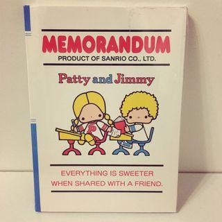 Patty and Jimmy tiny notebook 細簿仔